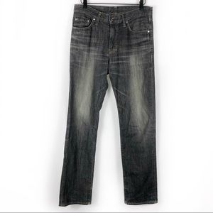 Edwin 503S Straight Jeans Faded Black Whiskered